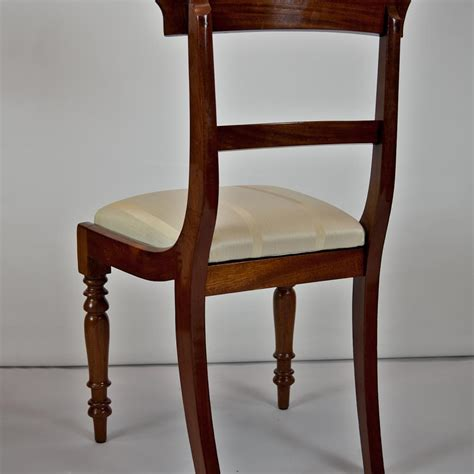 pair of mahogany dining chairs