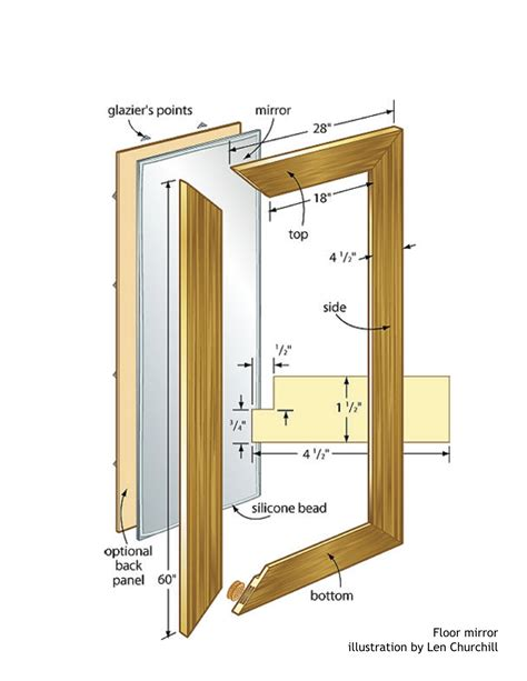 floor mirror plans floor mirror woodworking plans woodshop plans