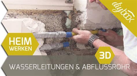 abwasserleitung verlegen kosten wasserleitungen und abflussrohr verlegen 3d
