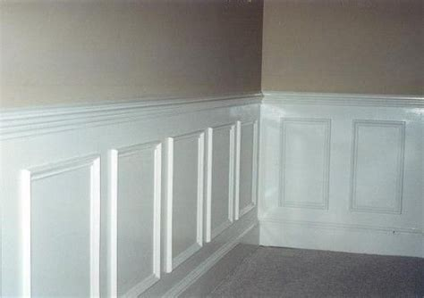 glossy painted wainscot shadow boxes 2 piece chair rail