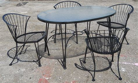 vintage woodard patio chairs retro vegas tables sold