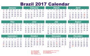 Brazil Holiday Calendar 2017