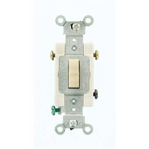 leviton 15 commercial grade 3 way toggle switch light almond cs315 2t the home depot