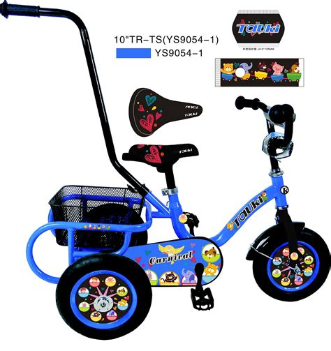 Tauki™ 10 Inch Kids Tricycle with Adjustable Removable ...