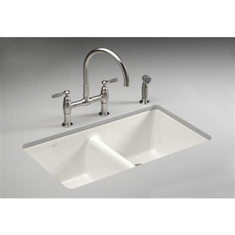 $53690 Kohler White Cast Iron Undermount Kitchen Sink