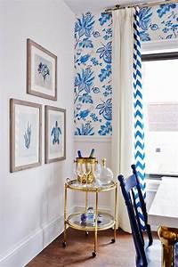 blue and white kitchen Sarah Richardson's Royal Blue, Gold, and White Kitchen - The Inspired Room