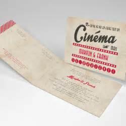 papier faire part mariage faire part mariage cinéma vintage mariage rectangle