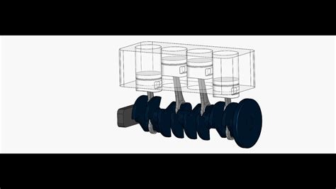 4 Cylinder Internal Combustion Engine Animation