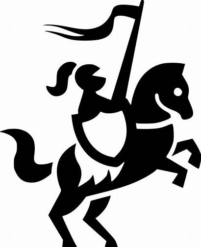 Crusader Icon Svg Silhouette Clipart Clip Horse