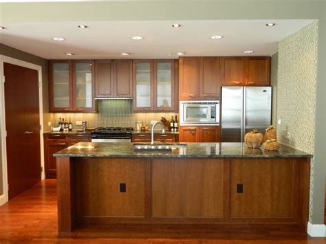 modern interior open kitchens designs with recessed