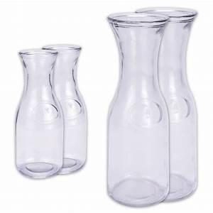 Glaskaraffe 2 Liter : 2 x karaffe wasserkaraffe glaskaraffe wasser wasserflasche dekanter 0 5 l 1 l ebay ~ Whattoseeinmadrid.com Haus und Dekorationen