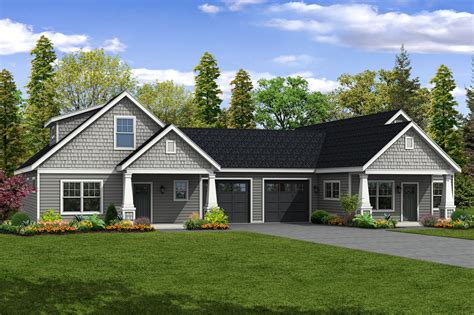 narrow house plans with garage duplex house plans with garage in the middle home desain