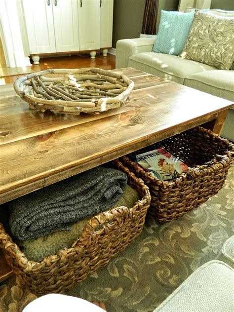 hometalk diy rustic coffee table  storage