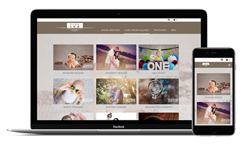 create  photography website sell