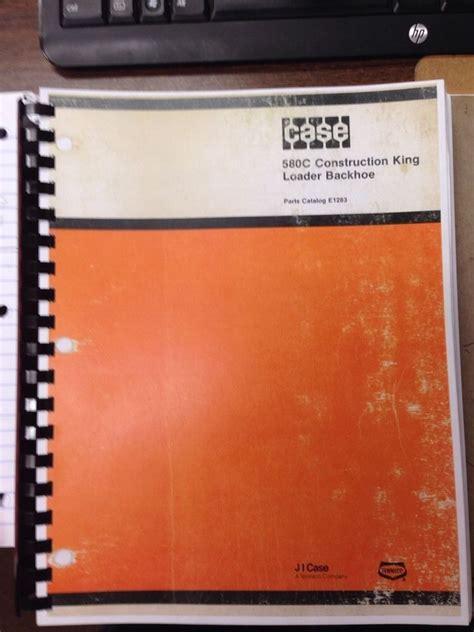 case  loader backhoe parts book manual  finney equipment  parts