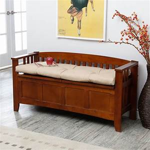 Woodwork Indoor Storage Bench With Cushion PDF Plans