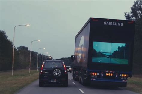 'transparent' Samsung Safety Truck Aimed To Reduce Road