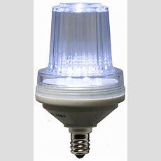 C7 Strobe  Commercial Twinkle Cool White Led Christmas Bulbs