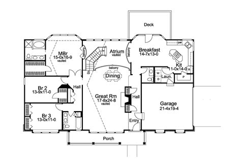 genius atrium ranch floor plans home building plans
