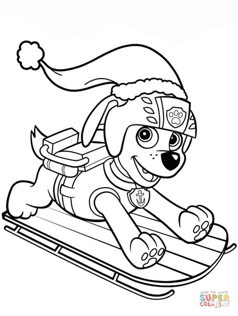 zuma  sled coloring page  printable coloring pages