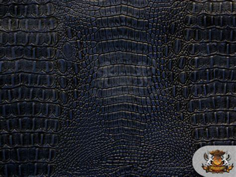 Alligator Upholstery Fabric by Vinyl Crocodile Navy Blue Leather Upholstery
