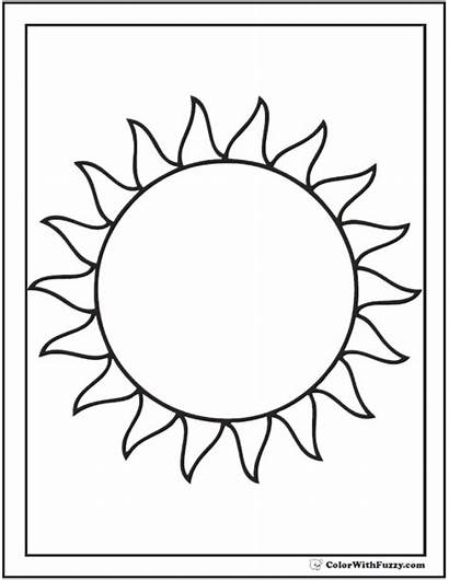 Coloring Sun Pages Star Pdf Sheets Blazing