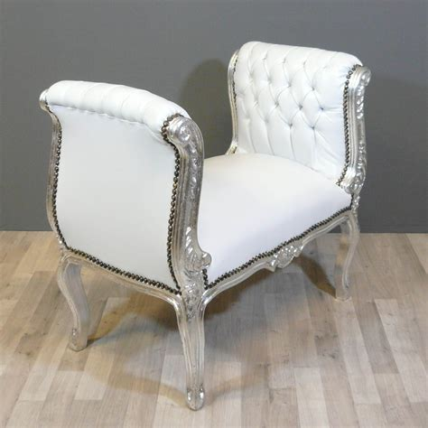 banquette baroque blanche chaise baroque