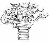 Treehouse Coloring Bestcoloringpagesforkids sketch template