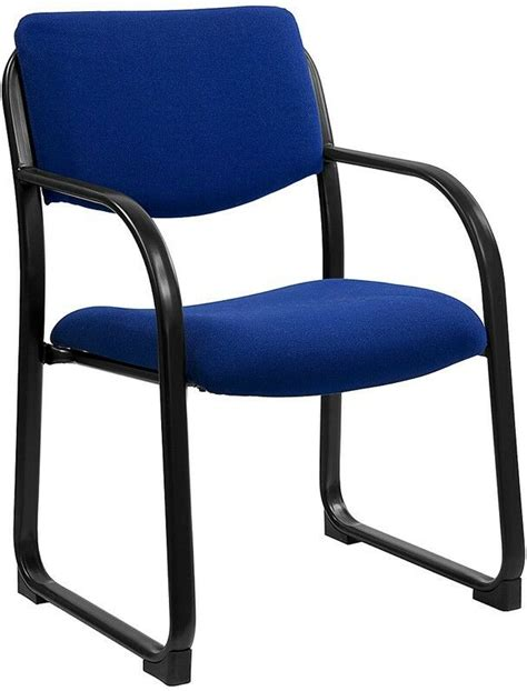 Heavy Duty Blue Color Fabric Reception Office Side Chair