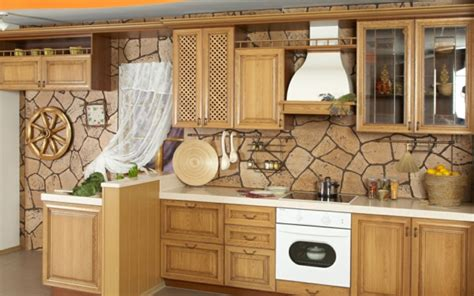 Grüne Tapete Küche by Stein Tapeten Erschaffen Ein Komfortables Ambiente In