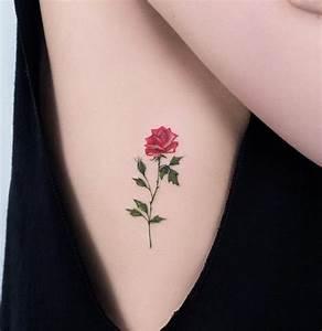 Rosen Tattoo Klein : 1001 ideen und inspirierende bilder zum thema rosen tattoo tattoo ideen ~ Frokenaadalensverden.com Haus und Dekorationen