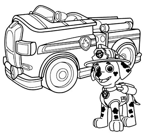nick jr paw patrol coloring pages