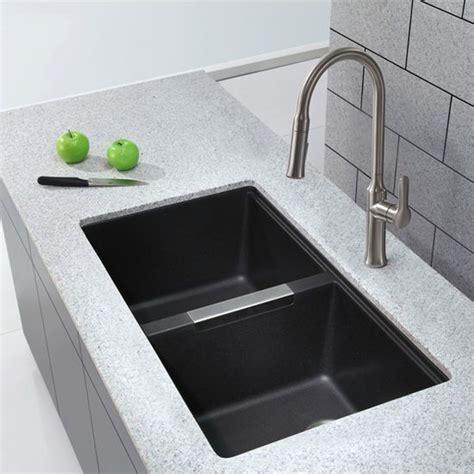 black kitchen sink undermount best 25 black kitchen sinks ideas on black