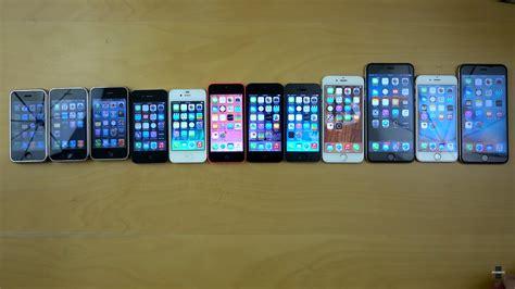 iphone 1 2 3 4 5 comparison Gallery