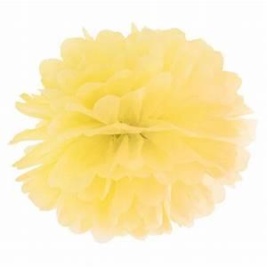 Fleur De Papier : pompon fleur de papier en soie suspendre jaune holly party ~ Farleysfitness.com Idées de Décoration