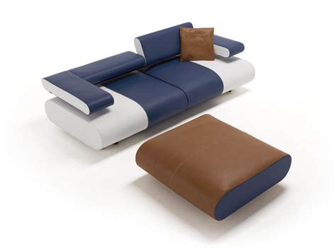 Leather Sofa Alice Collection By Egoitaliano