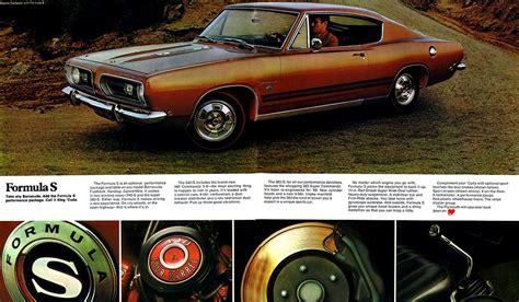 Sale Original original sales brochure for 1968 plymouth barracuda
