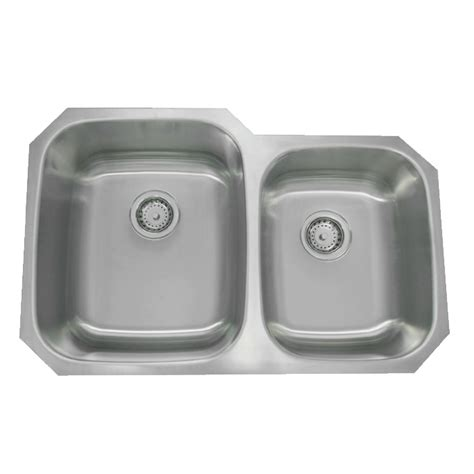 60 40 undermount sink 32 quot stainless steel double bowl undermount sink 60 40 py