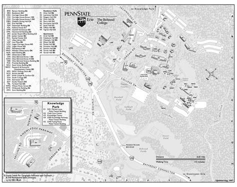 penn state erie behrend college cus map wesleyville