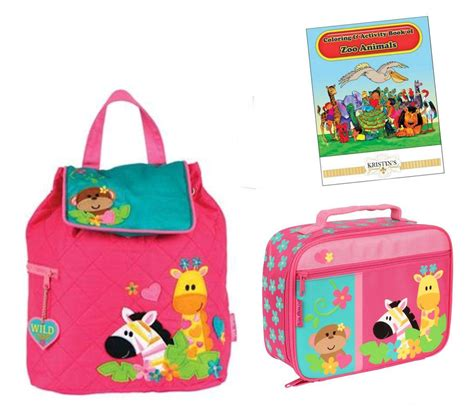 preschool book bags stephen joseph quilted backpack lunch box set toddler 258