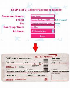 ticket o matic is the best fake airline ticket generator With pretend plane ticket template