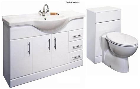 combination basin wc vanity unit classic 1200mm