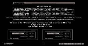 Bosch Temperature Controllers Operation Handbook   U00b7 Bosch