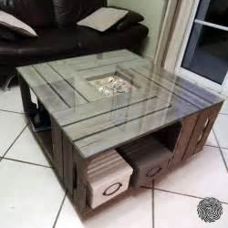 Table Basse Caisse Bois : table basse cagette ~ Nature-et-papiers.com Idées de Décoration