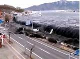 Amateur footage of tsunami