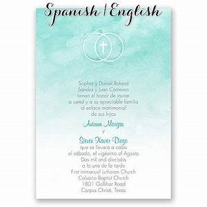 1000 images about bilingual wedding invitations on With wedding invitations in spanish language