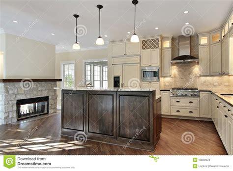kitchen  stone fireplace stock images image