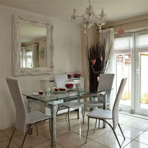 modern glass  chrome dining room dining room housetohomecouk