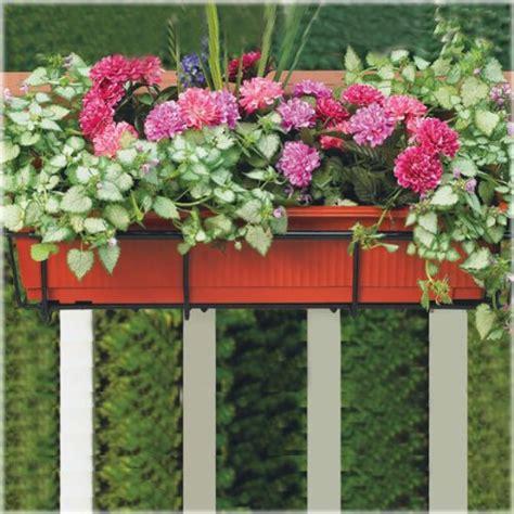 cobraco 24 inch black flower box holder with adjustable hanging brackets f2426 b