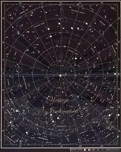 Vintage Constellation Map LARGE Star Chart Original 1950 ...